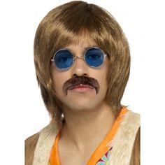 60 s 70 s Pop Band Perruque Kit Lunettes Moustache Tash Déguisement Groovy beatles homme