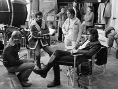Star Wars: Episode V - The Empire Strikes Back, Carrie Fisher, ...   Executive producer George Lucas pays a visit to the set to check in with stars Mark Hamill, Carrie Fisher, and Harrison Ford