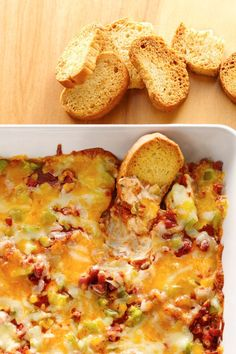 Go ahead and double the recipe because this warm, cheesy pizza dip will be first to go at the party.