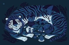 EAR OF THE TIGER silkscreen print: NEW NEW NEW, and perfect for summer.