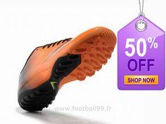 Chaussures de foot nike Mercurial Glide III TF Orange Noir Jaune Mercurial Pas Cher Cleats, Shop Now, Football, Orange, Sports, Shopping, Fashion, Yellow, Black People