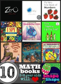 10 Math Books 3-6 Year Olds Will Love | Tipsaholic.com #learning #kids #math #books #reading
