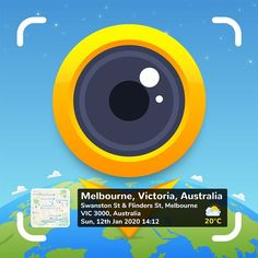 Melbourne, Camera Application, Simple Camera, App Of The Day, Gps Map, Satellite Maps, Image Stamp, Victoria, Travel Memories