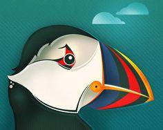 A-Z of Birds by Neil Stevens, via Behance