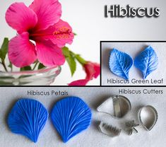 Hibiscus cutters and veiners, sugar flowers, gumpaste flowers, cutters, veiners, leaves Sugar Flowers, Gum Paste, Green Leaves, Hibiscus, Candy, Crystals, Crystal, Sweets, Sugar Paste