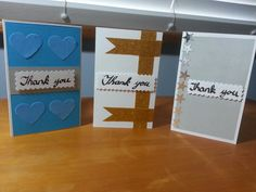 JLK: Really quick and simple handmade Thank You cards