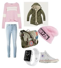 """Pink Fall"" by miskavlcejova on Polyvore featuring Preen, Abercrombie & Fitch, Alexander Wang, Marvel, Apple and Converse"