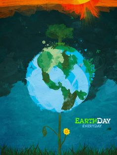 Kwame Amuleru's Design Blog: Earthday Posters and Watercolor and Ink pieces that caught my I