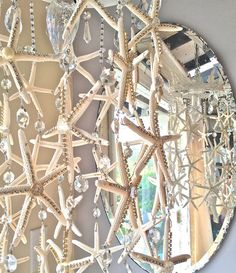 Starfish and Rhinestone Chandelier by debisdesigndiary on Etsy