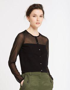 Georgia Cardigan - Sweaters & Cardigans - Sandro Paris