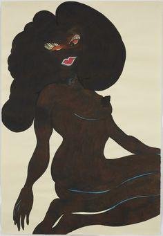 Chris Ofili » Untitled (Afronude)David Zwirner