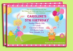 Easter Birthday Egg Hunt Party Invitation by ThatPartyChick, $15.00