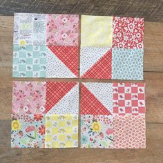 "This quilt pattern looks really gorgeous. This is a simple, modern and elegant ""Hip to be Square"" quilt pattern that you can get for free. Colchas Quilting, Scrappy Quilts, Easy Quilts, Small Quilts, Jellyroll Quilts, Mini Quilts, Wool Quilts, Colorful Quilts, Machine Quilting"