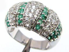 Emerald Gemstones in Silver Ring size 8 MJA 826 Gemstone jewellery