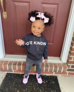 Black Baby Girls, Cute Black Babies, Beautiful Black Babies, Cute Baby Girl, Beautiful Children, Cute Babies, Little Girl Swag, Cute Little Girls Outfits, Kids Outfits Girls
