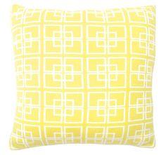 DG37 Delta Knit 50x50cm Filled Cushion Lemon