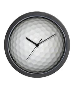 White Golf Ball Wall Clock. Re-pinned by www.apebrushes.com. Providing the best in greens mowers and top dressers.