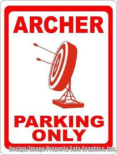 Archer Parking Only Sign