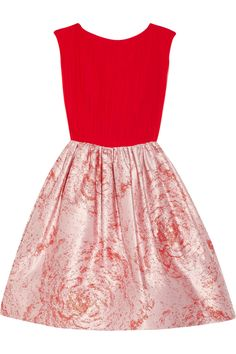 Alice + OliviaKirie silk and metallic jacquard dress at The Outnet #dress #red