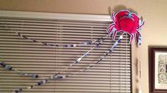 Dot garland and crab decoration