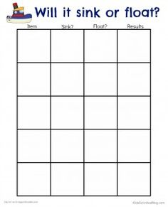 Worksheet Sink Or Float Worksheet we the words and on pinterest sink or float experiment with water printable for kids