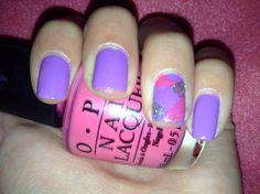 Purple, Pink, and Sliver Sparkles.