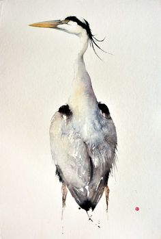 Karl Martens, Grey Heron (Unframed) | Cricket Fine Art