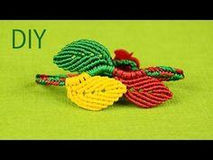 ▶ Macramé Leaf Bracelet - Tutorial - YouTube