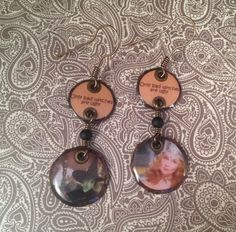 """'The Wizard of Oz' Copper Dangles- """"only bad witches are ugly"""" handmade by jennamahshie http://www.copperandteal.com"""
