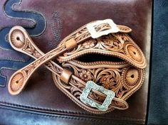 Pretty sure these would look good on my boots! Cowboy Gear, Cowboy Horse, Cowboy And Cowgirl, My Horse, Cowgirl Style, Horse Tack, Horses, Leather Carving, Leather Art