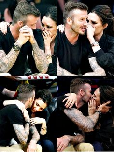 Victoria and David Beckham famous couple kiss David E Victoria Beckham, Victoria And David, Victoria Beckham Style, David Beckham Style, Perfect Couple, Best Couple, Beautiful Couple, Christian Grey, Posh And Becks