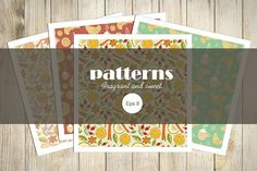 Fragrant and sweet patterns by Kateryna on @creativemarket
