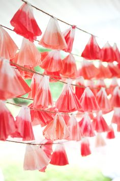 coffee filter garland DIY #diy #garland #partydecor