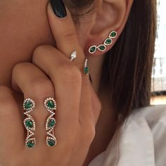 """Today we  Emeralds And Diamonds #Djula #NewCollection #DjulaJewelry ™®©"""