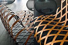 ARIA rilassante poltrona in acciaio da Antonio Rodriguez per La Cividina sedia