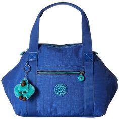 Kipling Art Satchel (Sailor Blue) Satchel Handbags (320 BRL) ❤ liked on Polyvore featuring bags, handbags, handbag satchel, kipling purse, man bag, blue satchel and satchel handbags