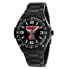 Texas Tech University Men's Black Gladiator Logo Watch
