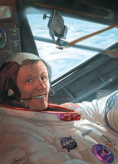 Neil Armstrong By Romain Hugault