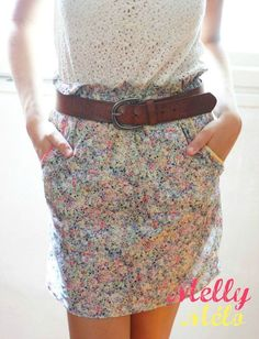 Coude une jupe taille haute Tuto: http://auremalou.canalblog.com/archives/2011/08/02/21718501.html