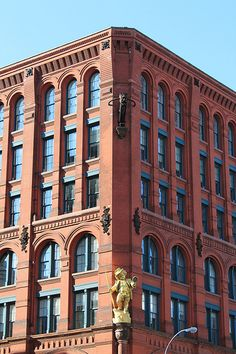 The Puck Building, originally the home of Puck magazine, is one of the great surviving buildings from New York's old publishing and printing district. Scale Model Architecture, Brick Architecture, Islamic Architecture, Historical Architecture, Abandoned Buildings, City Buildings, Brick Building, Building Design, Brick Facade