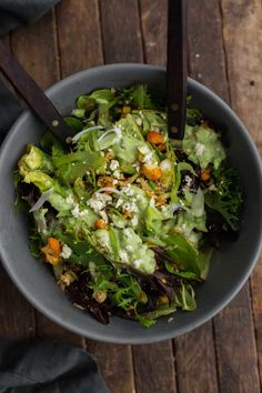 Harissa Roasted Cauliflower Salad Lemon-Avocado Dressing