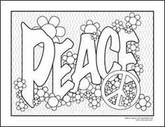coloring pages for adults only peace coloring page 08