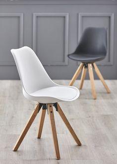 LOGAN-tuolit valkoinen ja musta. #sisustusidea #sisustaminen #sisustusinspiraatio #askohuonekalut #sisustusidea #sisustusideat