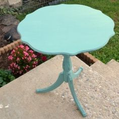 Give an old table a fabulous makeover with some chalk paint and wax!