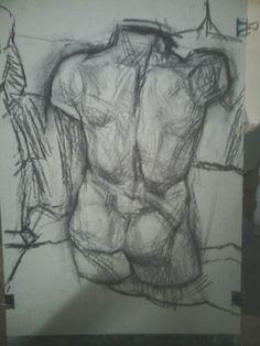 Torso study,charcoal on paper 50x70
