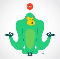 Camiseta Gorila OM!. Un proyecto de Diseño, Diseño de producto e Ilustración de…