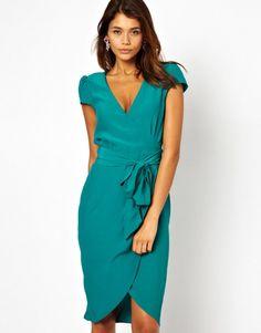 Love this: Midi Wrap Tulip Dress @Lyst