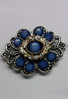 Victorian Style Magnetic Blue Brooch at BBC Shop