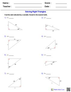 Worksheets Trigonometric Ratios Worksheet trigonometric ratios worksheets math aids com pinterest free these algebra 1 are perfect for learning and practicing various types problems about trigonometry