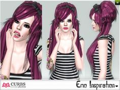 Emo hairstyle 10 by Colores Urbanos for Sims 3 - Sims Hairs - http://simshairs.com/emo-hairstyle-10-by-colores-urbanos/